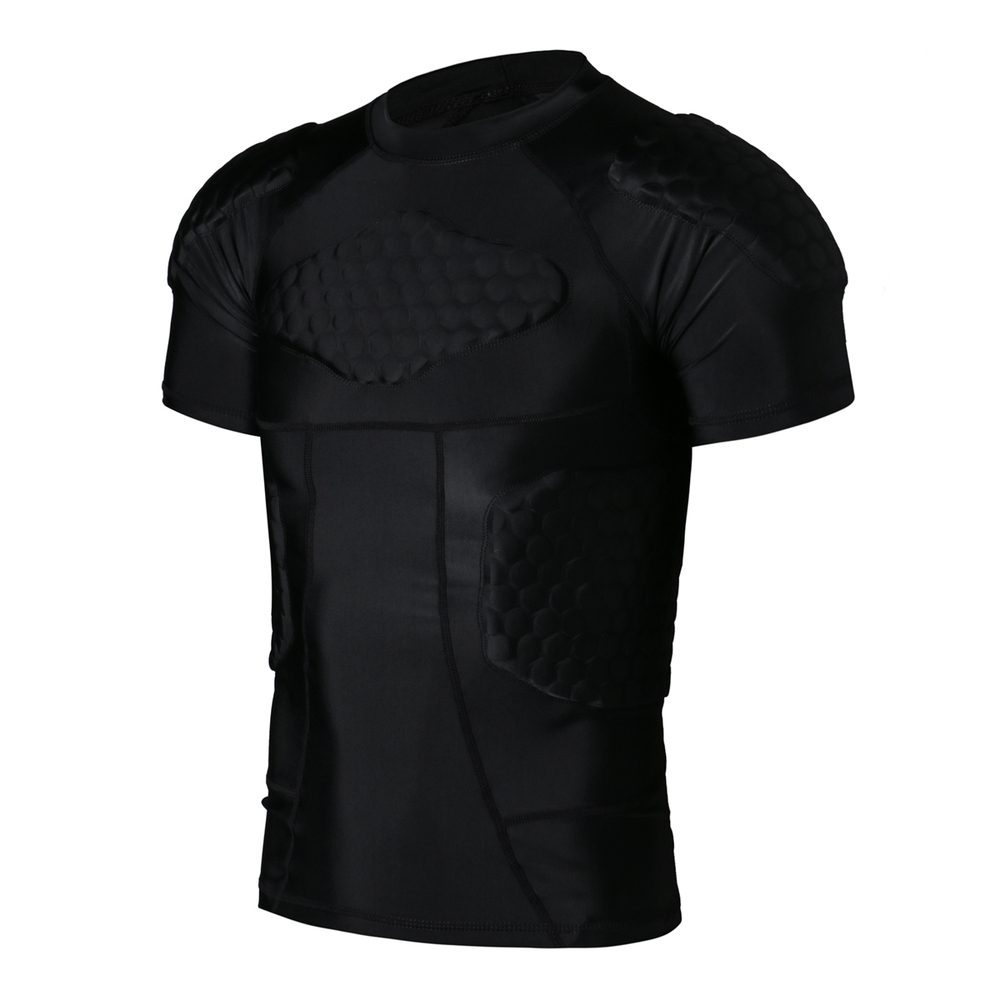 SH Outdoor Store Sports Body Protector  T-shirt Honeycomb Sponge Sport Pads Sportswear Armor For Rugby Basketball Football