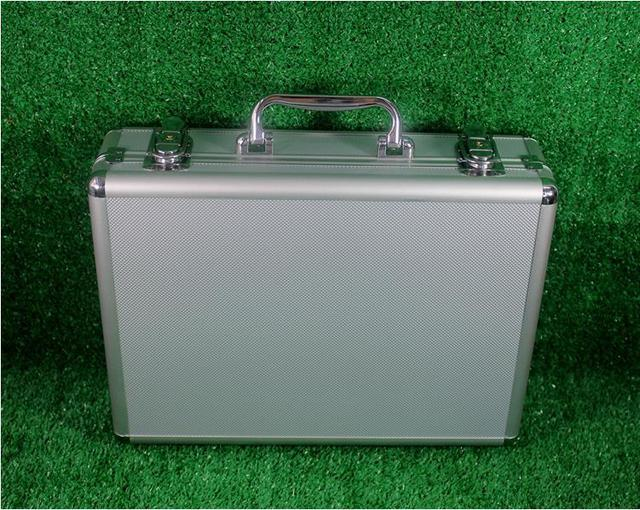 Aluminum plate FTTH cold junction toolbox fiber network hardware tool box empty has black and silver optional