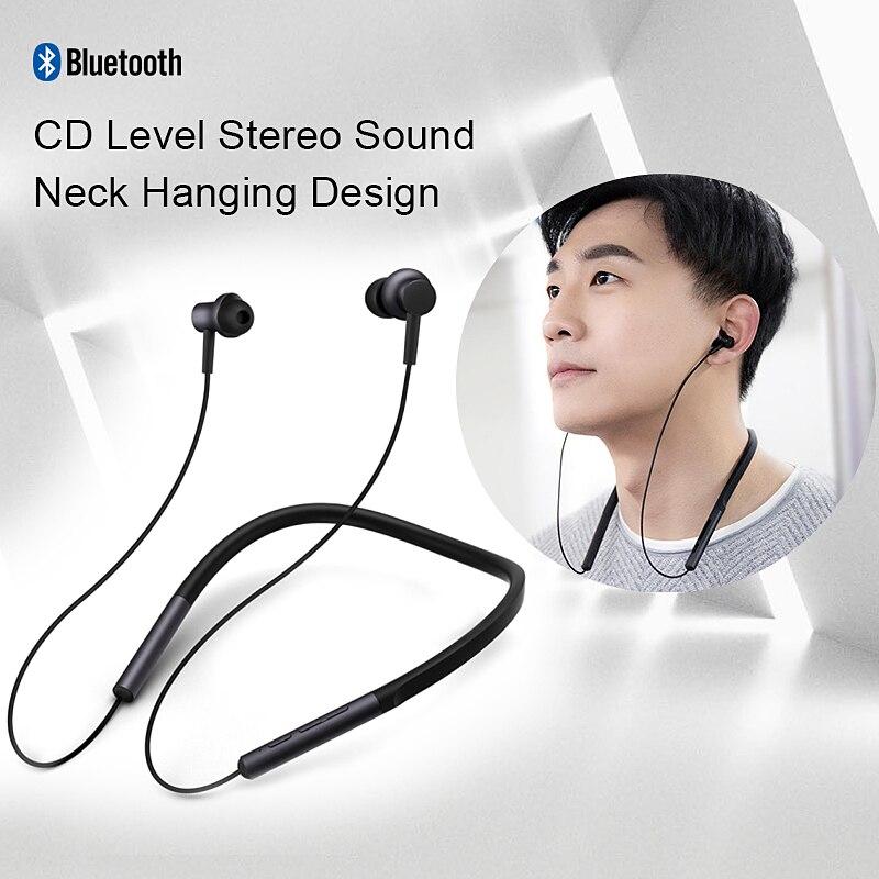 D'origine Xiaomi écouteurs bluetooth En-ligne casque de contrôle Collier Sport écouteurs avec micro Pour Xiaomi Samsung Iphone Huawei