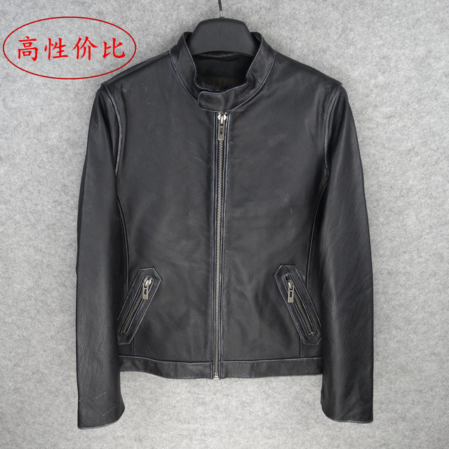 Free shipping.New Brand classic men 100% cow leather Jackets men's genuine Leather jacket.casual coat,gift sales