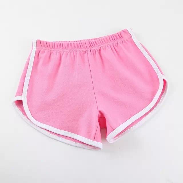 Карамельный цвет ретро пикантные стрейч шорты для женщин женские 13 цветов повседневные свободные пляжные Hotpants - Цвет: Розовый