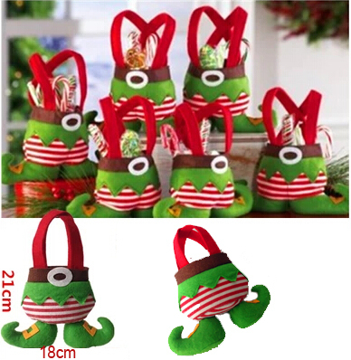 fantastic new year merry christmas elf candy gift bagsmall sackstocking filler decorations - Merry Christmas Elf