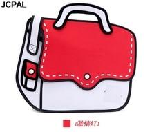 3D 2D nylon schüler umhängetasche mode frauen handtasche für top cartoon tasche