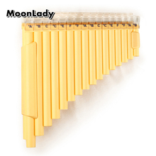 32 Pipes Left Hand Pan Flute New Arrival Double Pipes Pan Pipe G Key ABS Plastic Woodwind Musical Instrument