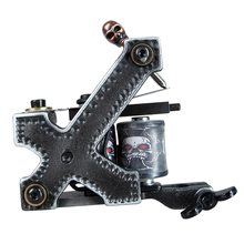 Newest Professional 10 Wraps Coil Tattoo Machine Gun Handmade Machine For Liner Shader Equipment Supply  MZZA08-1
