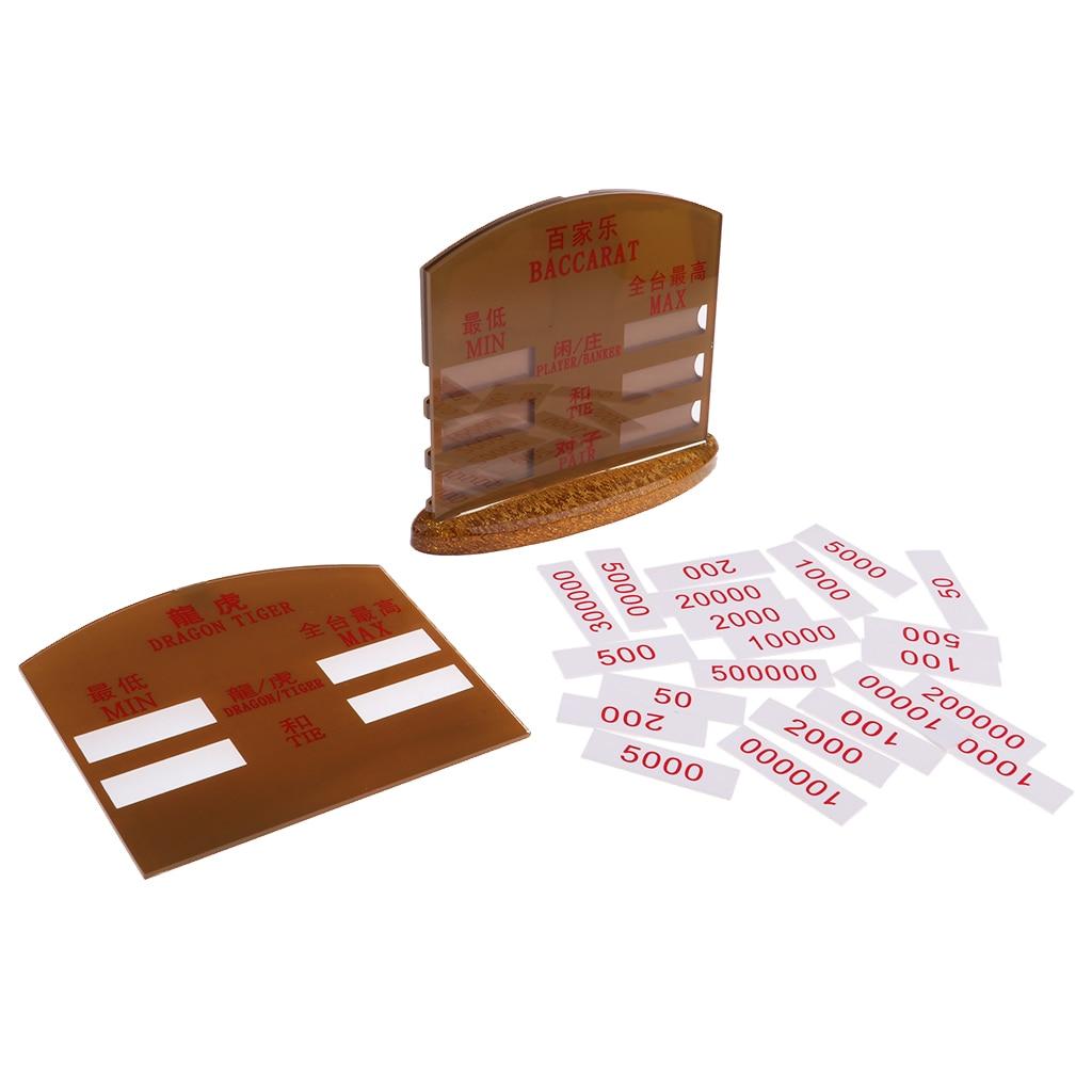 Acrylique Baccarat carte jeux de société voyage carte jeu jouets famille loisirs fête cadeaux pour jeux de Casino