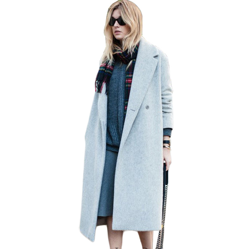 Grey Wool Coat Women Promotion-Shop for Promotional Grey Wool Coat ...