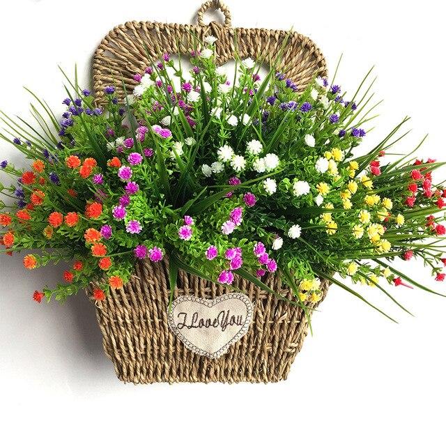 Семена растений (Гипсофила) искусственные цветы Пластиковые поддельные комнатные растения искусственные цветы Гипсофилы Висячие кустарники наружные Свадебные украшения на открытом воздухе