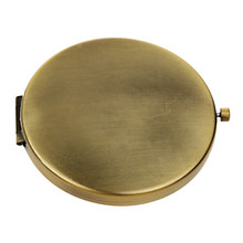Vintage Style Bronze Alloy Folding Pocket Compact Mirror Regular & Magnifying Mirrors Purse Size Make Up Tools(China)