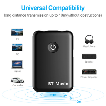 2 in 1 Transmit Receive Wireless Bluetooth AUX Adapter 4.2 3.5mm Jack Audio for Tables TV Home Sound System Car Stereo System 1