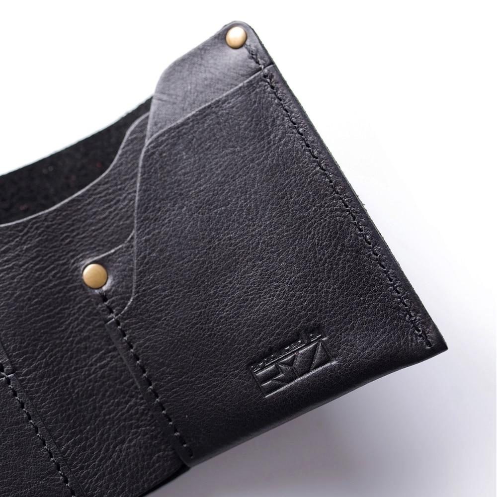 Gathersun Small Wallet Mens Bi-fold Full Korn Läder Kreditkort - Plånböcker - Foto 4