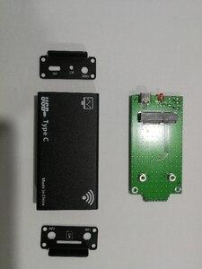 Image 3 - מארז עבור LTE מודול + אנטנה + USB + מיני PCIE מתאם עבור כל מיני pcie מודם כגון EG25 G MC7455 EP06 E EP06 A וכו