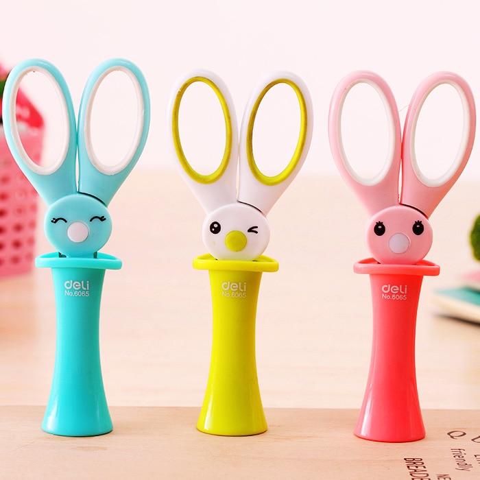 new cute magic rabbit scissors child cartoon style scissors shezthed handmade scissors cartoon airplane style red
