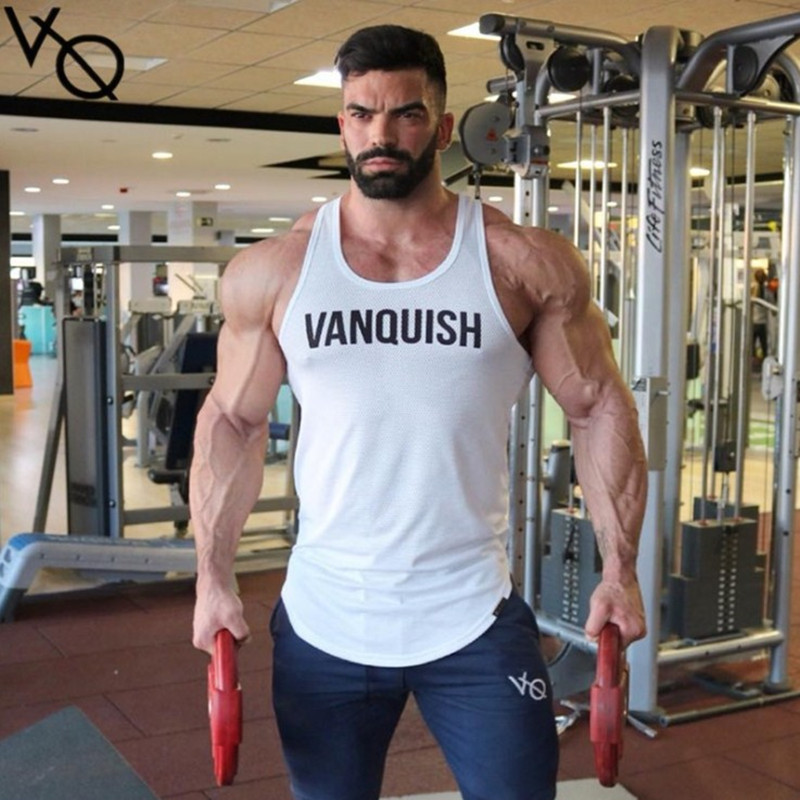 Vanquish 2018 verano Fitness hombre Tank Top hombre Bodybuilding GYMS Tank Tops marca ropa hombres Camisa sin mangas