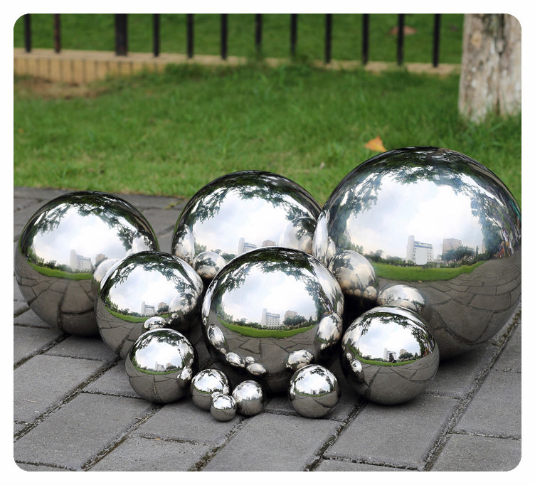 1 PCS 500MM Stainless Steel Hollow Ball Mirror Polished Shiny Sphere For Kinds of Ornament and