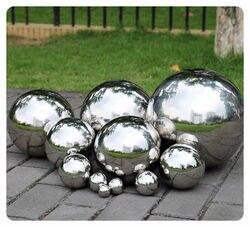 1 шт. 500 мм нержавеющая полый стальной шар зеркальная полированная блестящая сфера для видов орнамента и украшения