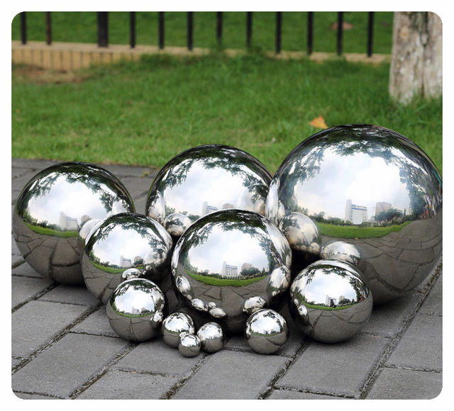 1 PCS 500MM Stainless Steel Hollow Ball Mirror Polished Shiny Sphere For  Garden Ornament Free Shipping