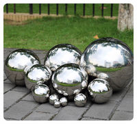 1 PCS 500MM Stainless Steel Hollow Ball Mirror Polished Shiny Sphere For Kinds of Ornament and Decoration