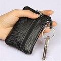 Genuine Leather Key Wallets Solid Color Women Key Holder Housekeeper Keys Organizer 10.5*7cm Zipper Key Case Bag With Coin Purse