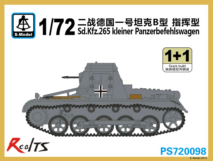 RealTS S-modèle 1/72 PS720098 Sd. Kfz.265 Kleiner Panzerbefehlswagen