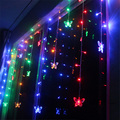 Holiday LED Decoration 220V 3.5M 120Leds 20pcs Butterfly LED Curtain String Fairy Curtain Garlands For Xmas Wedding Party