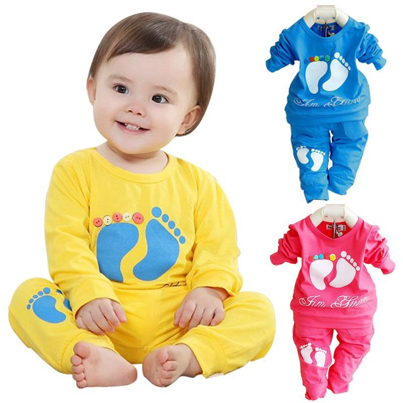 2017 High Quality baby clothing sets 100% cotton brand baby girl boy clothing children sport suit casual clothes