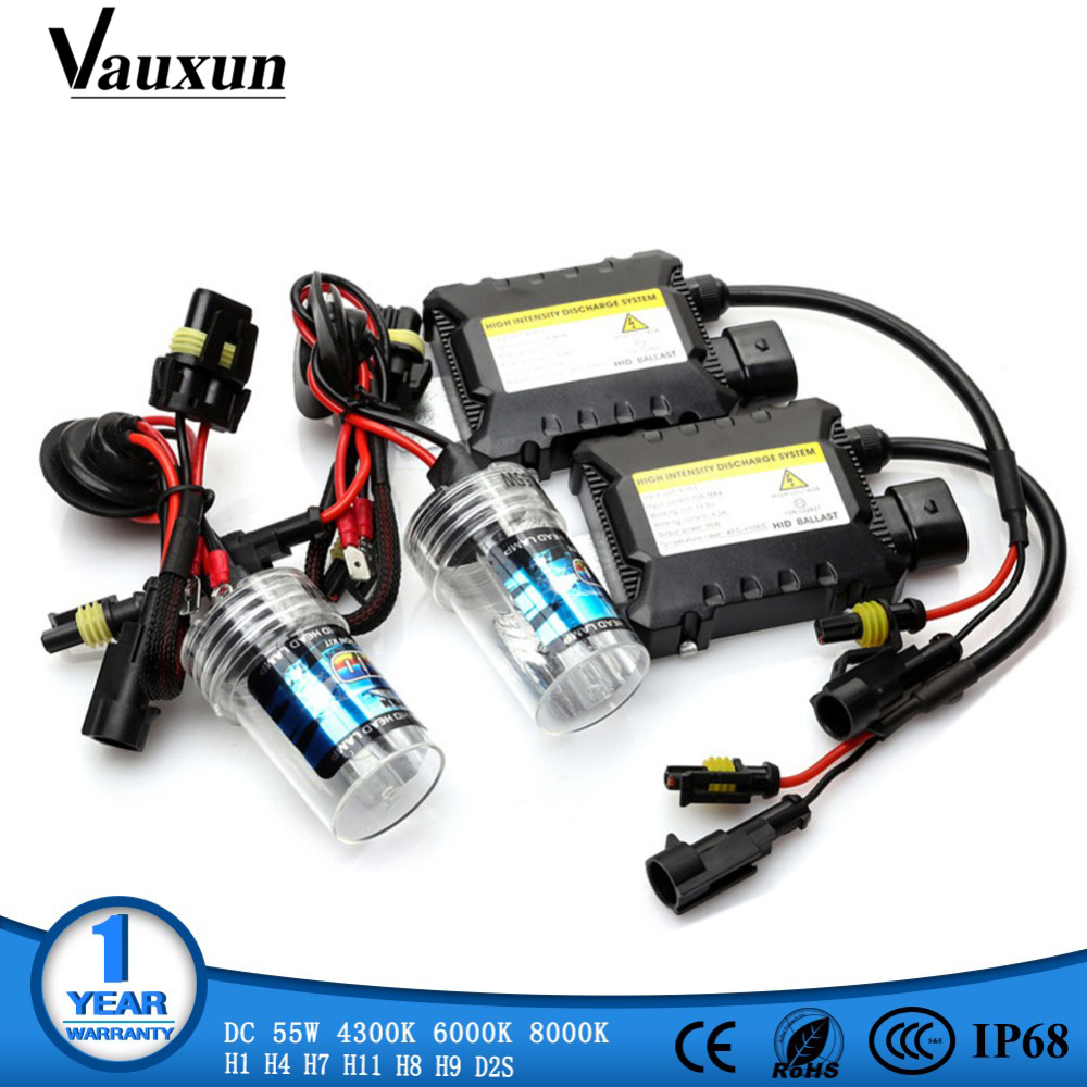 55W HID Xenon Kit H7 H4 H1 H8 H9 H11 D2S xenon hid ballast 4300K 6000K 8000K HID Xenon Light bulb Headlight Lamp 12V xenon H7 luo h7 6000k xenon hid lights bulb lamp for car single beam replacement headlight 55w