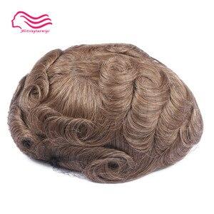Image 5 - Tsingtaowigs, uomini toupee super sottile skin0.02 0.04mm Vlooped NG, capelli replacemnt, parti dei capelli, uomini parrucca di trasporto libero