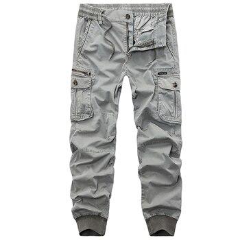 9dbdfc4e 2018 новые осенние камуфляжные тактические мужские брюки-карго Мужские штаны  для бега повседневные хлопковые брюки