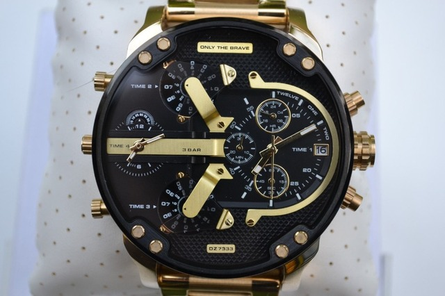 955f4371b169 DZ7333 Jewelry   Watch Mr. Daddy 2.0 DZ7333 Chronograph All Gold Black Dial  Watch 57mm+Original Box
