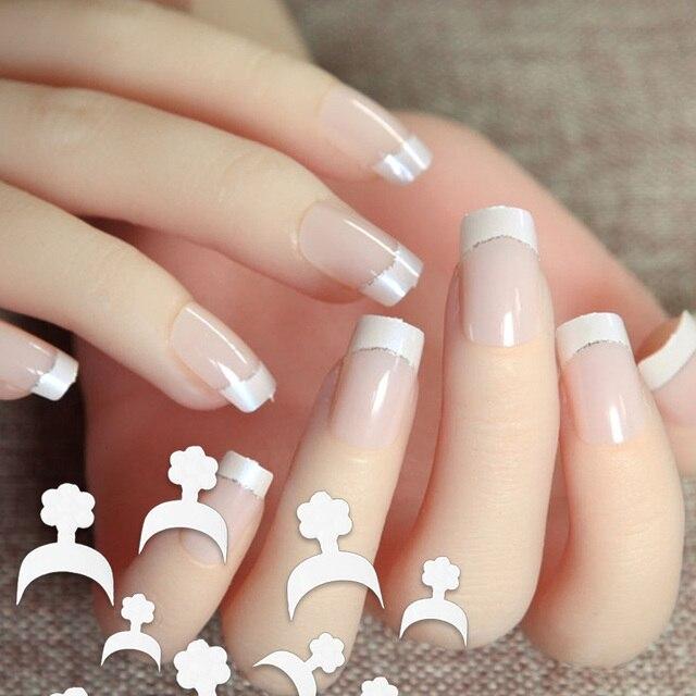 500Pcs White French Style False Acrylic Nail Art Tips Manicure Uv Gel Decoration