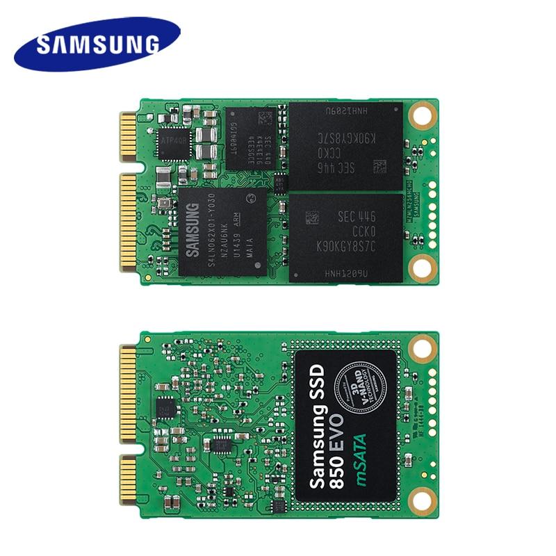 Samsung mSATA 850 EVO SSD interne 250 GB 500 GB 1 to disque SSD HD dur haute vitesse pour ordinateur portable PC ordinateur de bureau