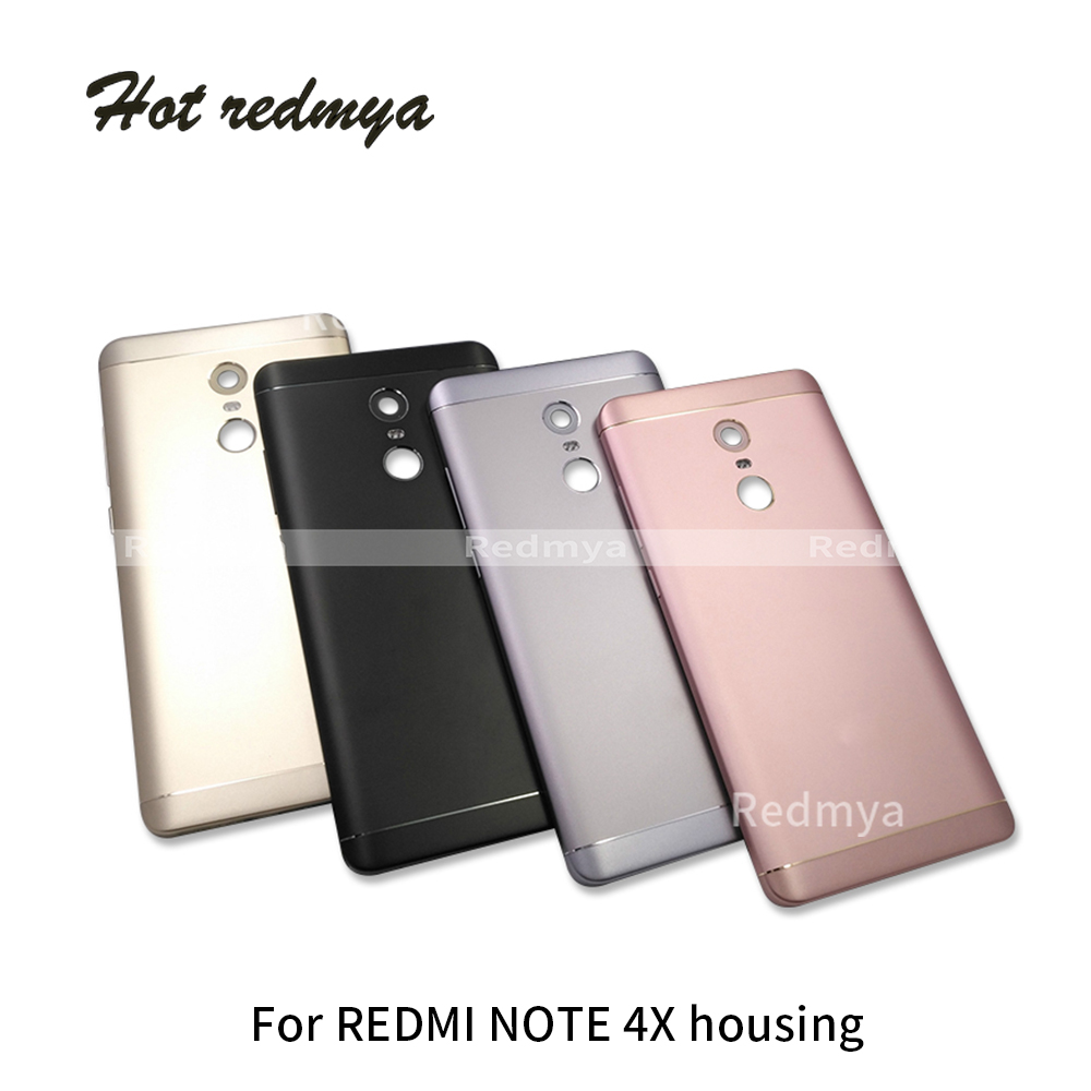 4x Back Cover For Xiaomi Redmi Note 4X 32GB Spare Parts Back Battery Cover  Housing Door cap + Side Buttons Replacement4x Back Cover For Xiaomi Redmi Note 4X 32GB Spare Parts Back Battery Cover  Housing Door cap + Side Buttons Replacement