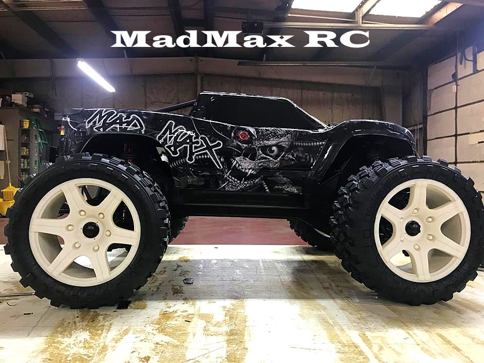 Madmax wide wheel light tire with adapter nut for 1/5 rc truck traxxas x-maxx 1 5 traxxas x maxx wheels tire rc monster truck model madmax high quality tyres upgrade rim 4pcs