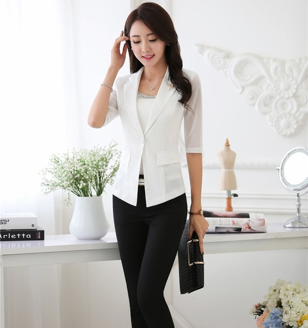 953540c83 Plus Size 2016 Primavera Verano OL Formal de Estilos Profesional Trajes de  Trajes de Pantalones Con