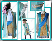 Bütün Set ~ Mihver devletleri Hetalia Fransız Elbise ve Şapka ve Eşarp & Şerit Cosplay Kostüm