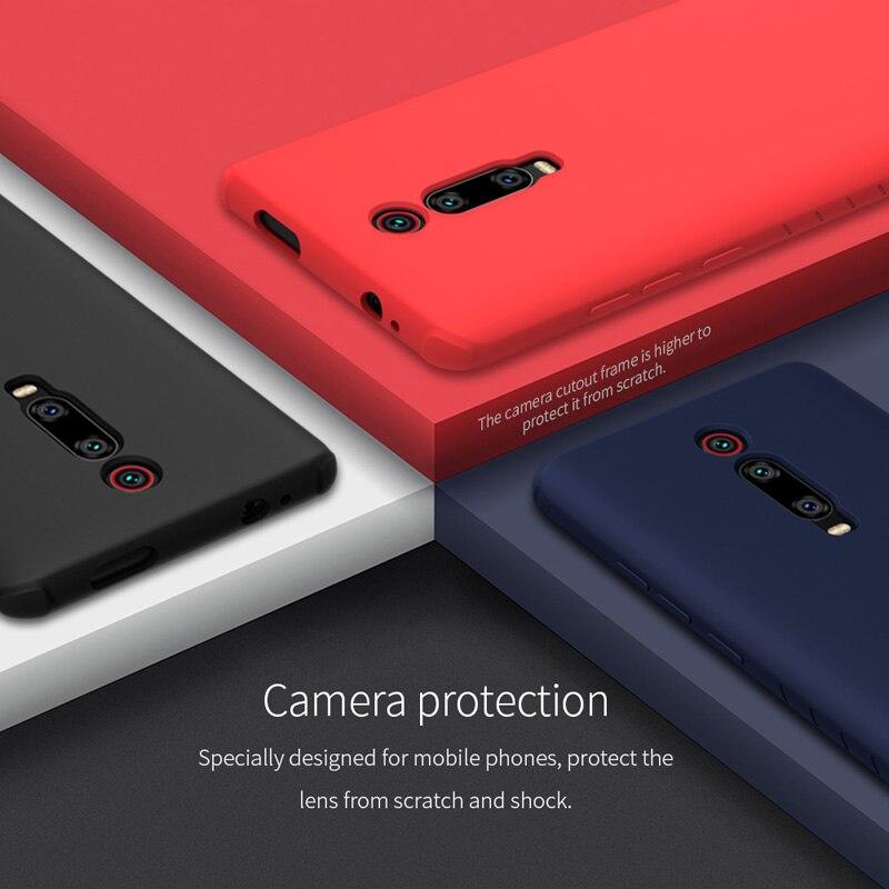 Image 4 - Nillkin płynnego silikonu obudowa do Xiaomi czerwony mi K20/K20 Pro/mi 9 T/mi 9 T Pro miękkie żel gumowe cienkie Slim ochronna futerał na telefonJednostronne etui   -