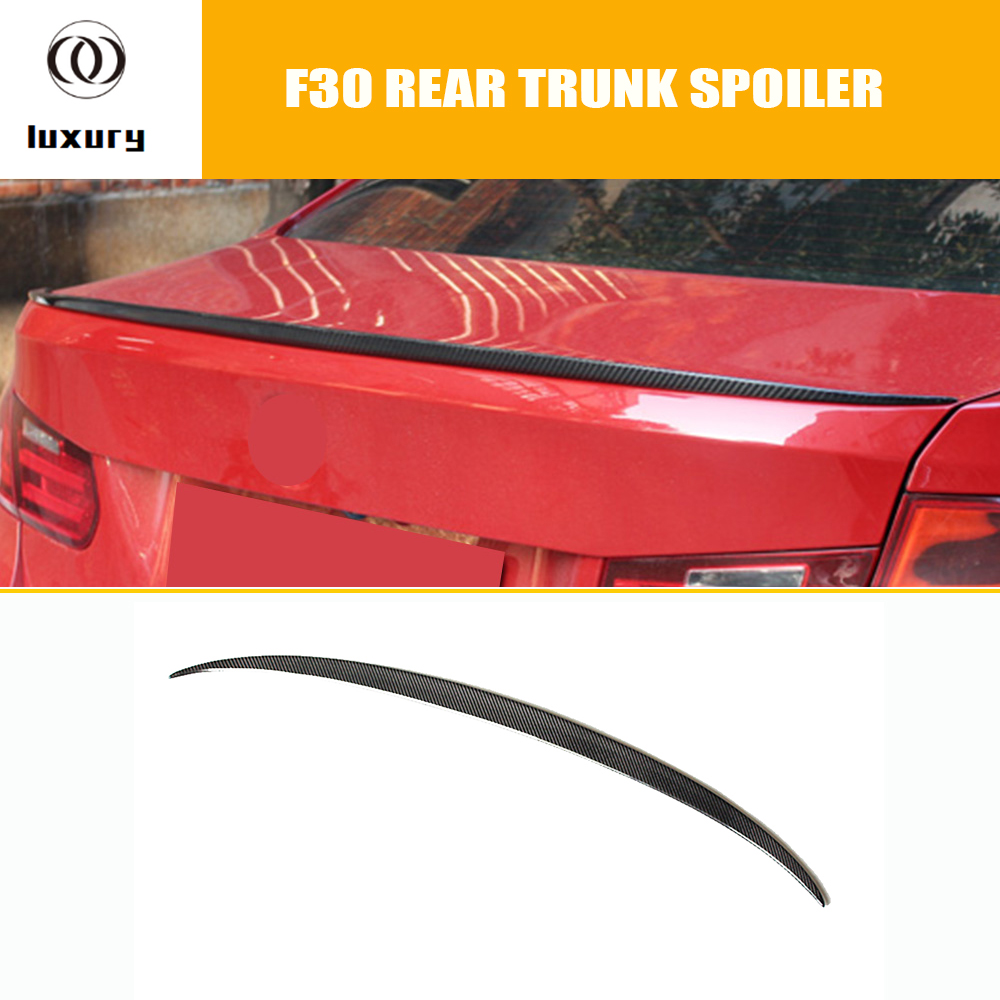цена на M3 Style Carbon Fiber Rear Trunk Lip Spoiler for BMW F30 3 Series 328i 320i 328d 320d & F80 M3 2012 - 2017