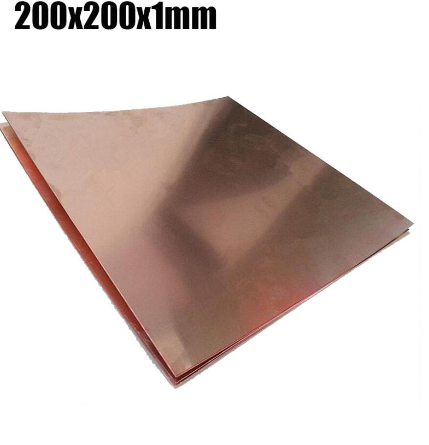 100x100x1 mm H62 high tenacity Brass Plate Building Manual material ...