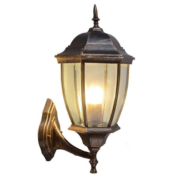 Simple european outdoor wall lamp courtyard brief hallway wall lights waterproof with glass ...