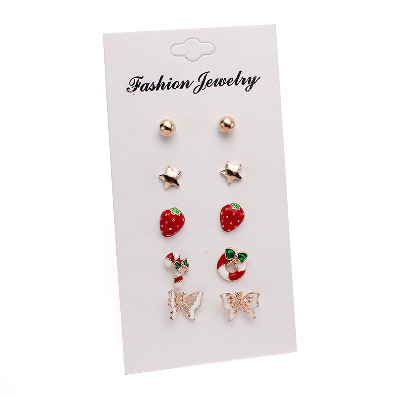 2018 new silver cute stud earrings set fashion earring for childrens girls jewelry dropshipping cheap promotion gift items