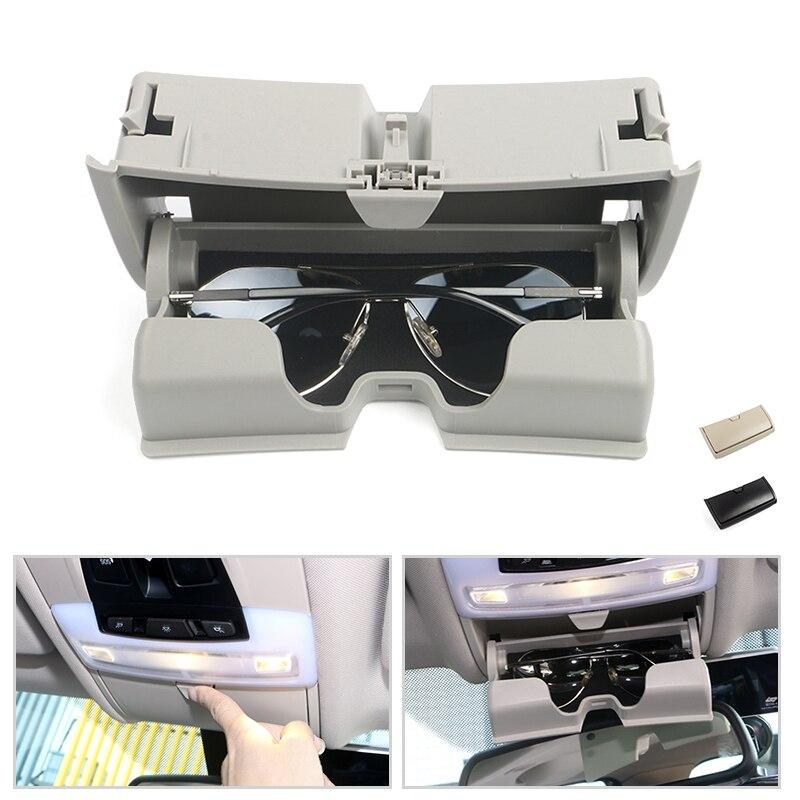 For BMW X5 X6 F15 F16 2014 2015 2016 2017 Special Dome Light Sunglasses Case Holder Glasses Storage Box