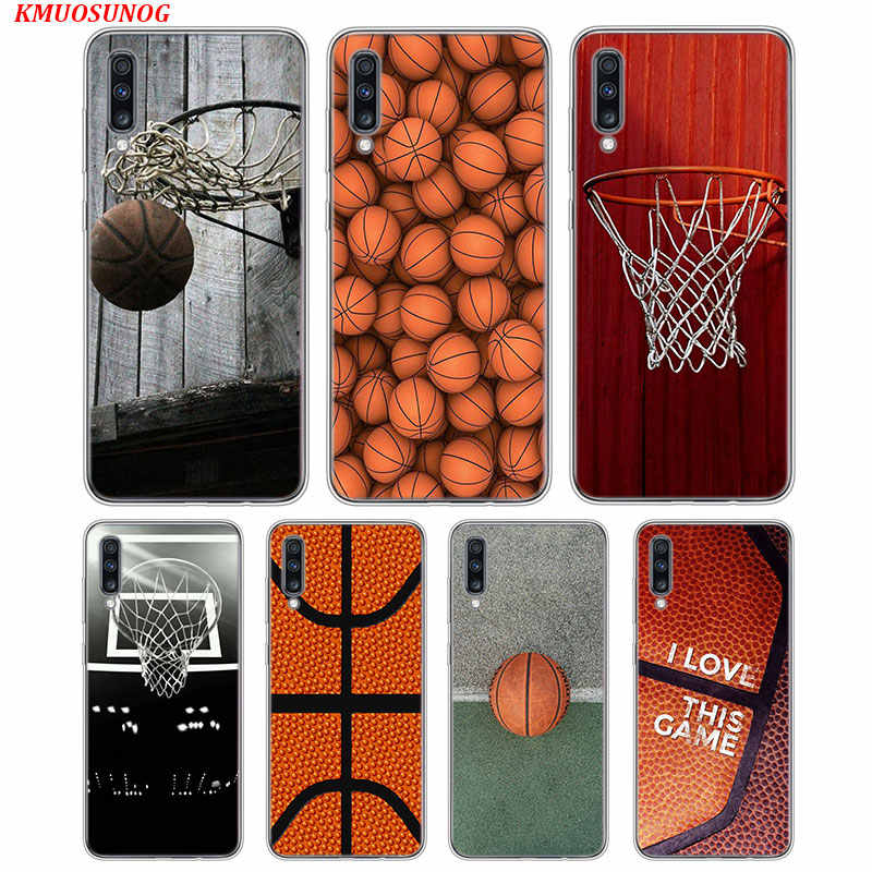 Transparan Lembut Silicone Ponsel Case Cool Dunk Basketball Cetak untuk Samsung Galaxy A70 A50 A40 A30 A10 Case Cover
