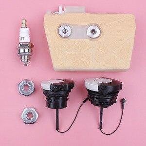 Image 2 - Filtro de aire, tapa de aceite de combustible, Kit de bujías de tuerca de barra para Stihl 038 MS380 MS381 MS 380 381, pieza de repuesto de motosierra