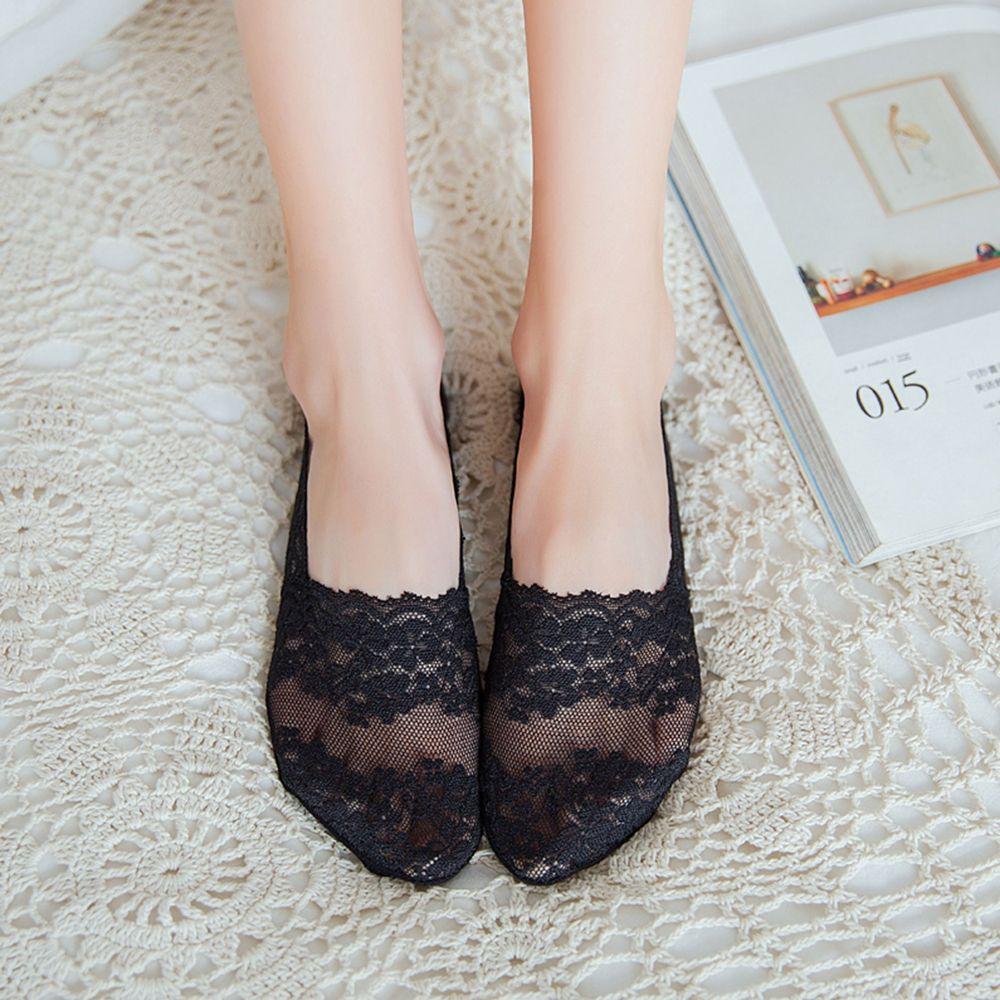 Bluelans - Bluelans Women Lace Low Cut Anti-slip No Show
