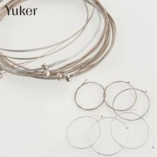 Yuker One-Set Acoustic Steel Acoustic Guitar Strings 150XL/.229mm Silver Diameter 0.229mm 0.279mm 0.381mm 0.813mm