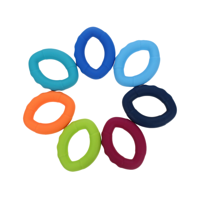 Olive Type Non Flavor Silicone Hand Grip Force Ring Gripper Finger Force Trainer Large Silica Gel Gripper Wholesale