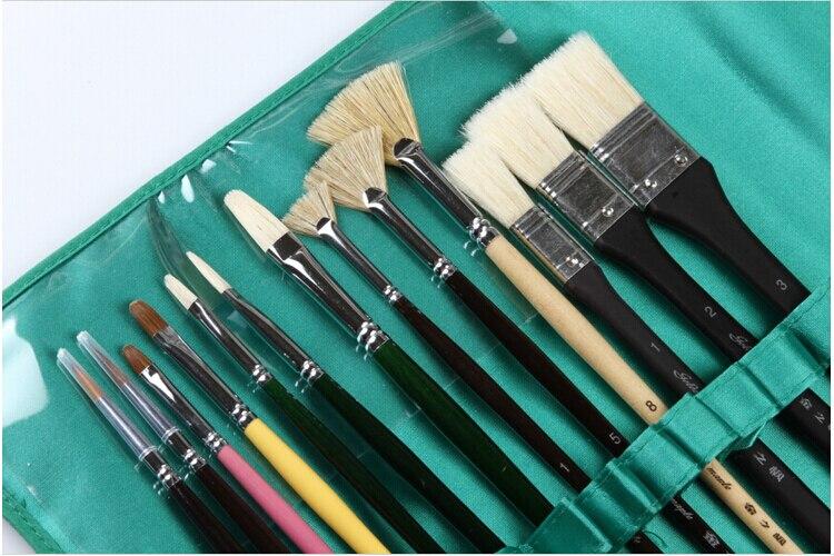 Peinture professionnelle brosse, 13 pcs/set Arts et artisanat produits acrylique pinceau, Aquarelle paiting brosse livraison gratuite