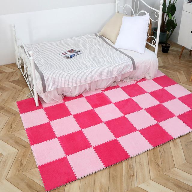 Soft Jigsaw Carpet Tile for Bedroom (9 Colors)
