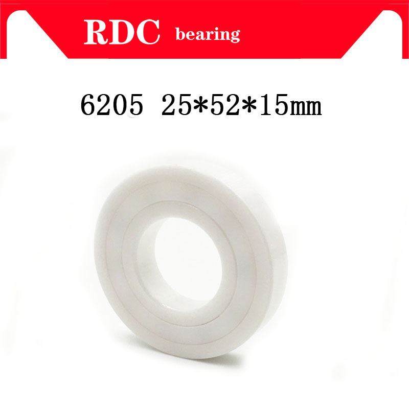 Free Shipping 6205 25X52X15 mm High quality double sided sealed ceramic bearings with seals (dust cover) of 25*52*15mm full ceramic bearings 1pc 6205 zro2 materials 25 52 15mm